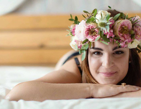 Couronne en fleurs mariée