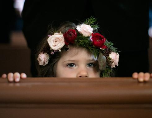 Couronne en fleurs petite fille