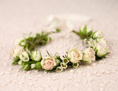 Couronne en fleurs