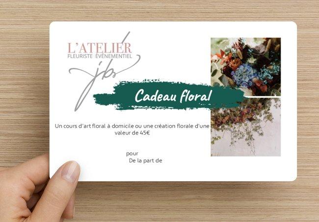 carte cadeau floral julie bilher